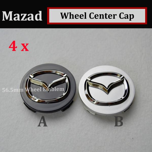 Hot sale 4pcs 56mm emblem Auto Wheel Hub Emblem Caps for CX 5 7 9 RX MPV MX Car Wheel Center Covers