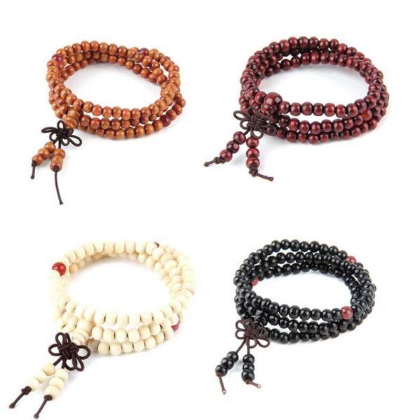 6mm natural red sandalwood bead prayer japa rosary mala bracelet Tibetan Buddhist meditation Wooden Rosary Beaded Bracelet