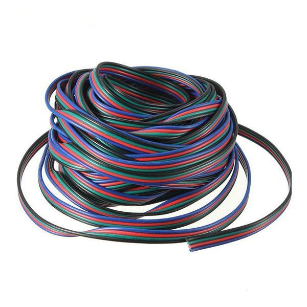 10 М 4 pin RGB расширение Wir 5050/3528 RGB светодиодные полосы удлинительный кабель провод шнур бесплатная доставка