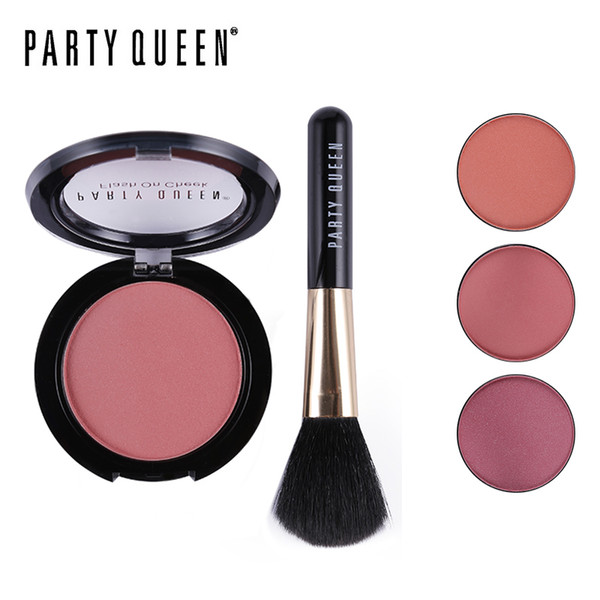 Al por mayor-Party Queen Nuevo Mineral Sleek Sculpting Blush Blusher Palette Con Pincel Contorno de maquillaje Smooth Shade Natural Flush Cheek Color