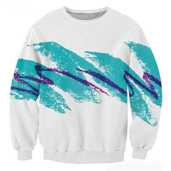 bairi / Wholesale-New 3D Sweatshirt Männer Frauen Casual Hoodies der 90er Jahre Jazz Solo Pappbecher Crewneck Sweatshirt Hiphop Mode Kleidung Dropship