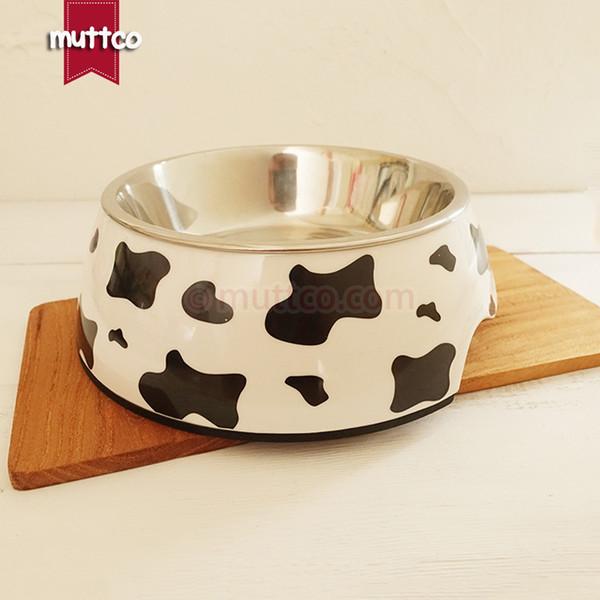 posh high quality detachable dual antiskid Stainless steel cow dog bowl DB-002