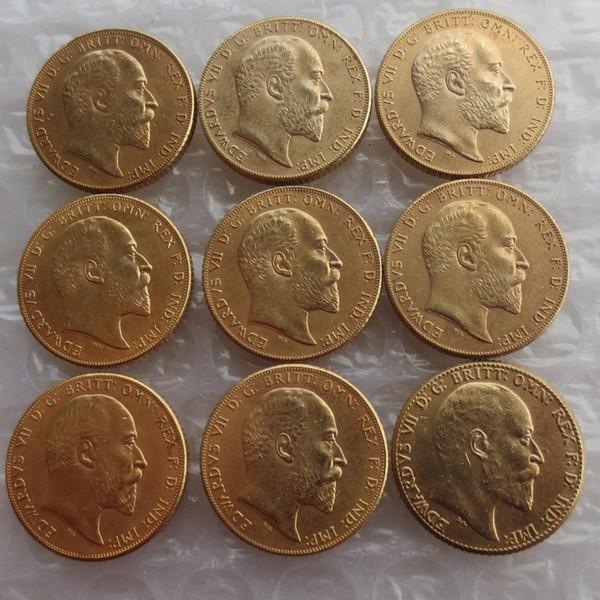 RARE Full(1902-1910) KING EDWARD VII MATT PROOF GOLD DOUBLE SOVEREIGN Free shipping