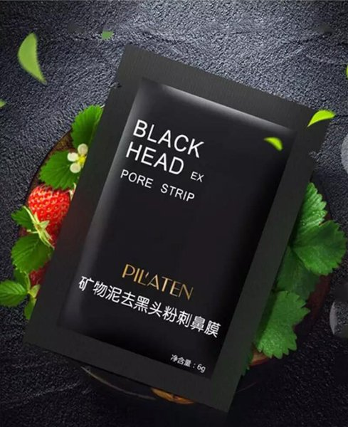 Facial Minerals Conk PILATEN Nose Facial Blackhead Black Mud Masks Deep Clean Pore Cleaner Black Moor Masks Acne Remover