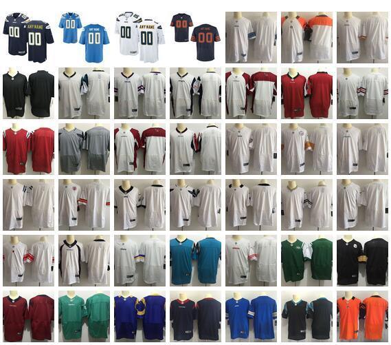 Nouveaux maillots de football américain sur mesure Tous les 32 équipes personnalisées cousues à n'importe quel nom N'importe quel numéro S-4XL Ordre de préparation pour hommes