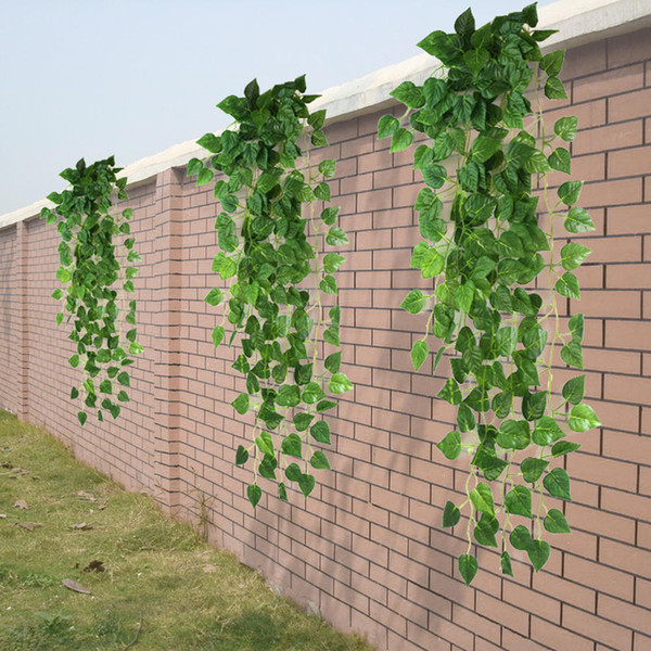 Wholesale- Green Artificial Fake Hanging Vine Plant Leaves Garland Home Garden Wall Decoration Supplies 90x 4 cm