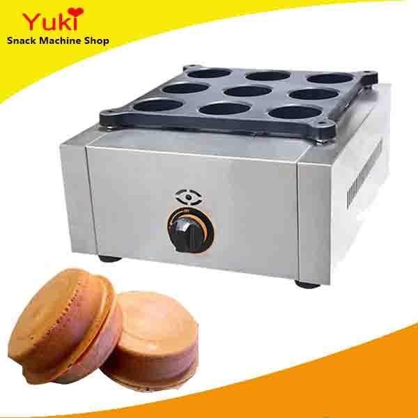 Gas 9 Holes Wheel Cake Machine Taiwan Red Bean Cake Machine Taiwan Popular Snack Food Machine Commercial