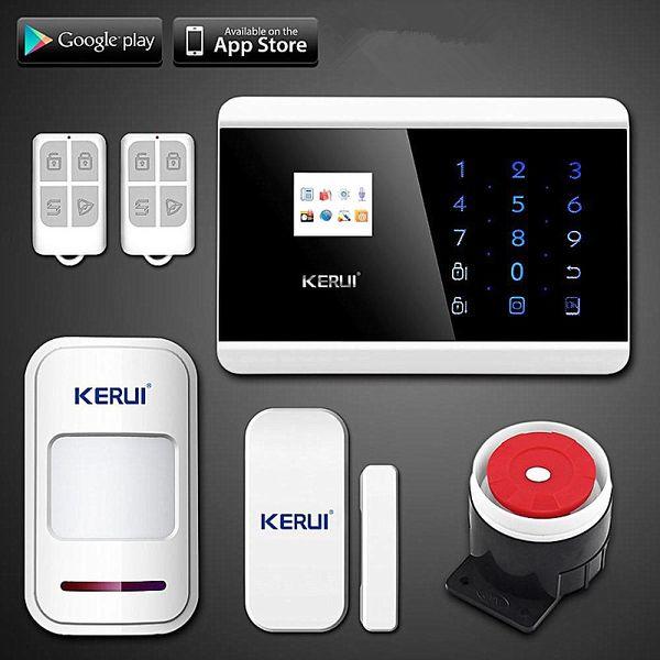 LS111- KERUI IOS Android APP Touch Keypad&TFT display 99 Wireless Zone GSM/PSTN/SMS Home PIR Voice Burglar Alarm Security System