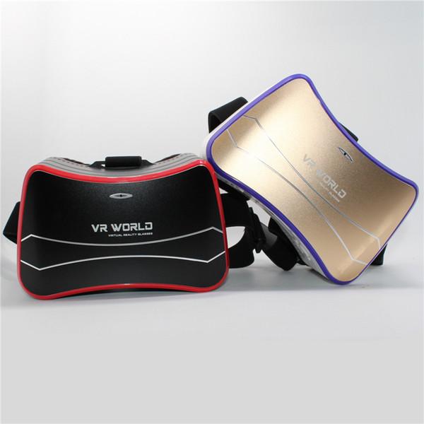 Venta por mayor-Venta! Todo en uno VR Auriculares Android 4.4 Quad Core 1.5 Ghz CPU Virtual Reality Gafas 3D Soporte wifi Bluetooth USB TF Card