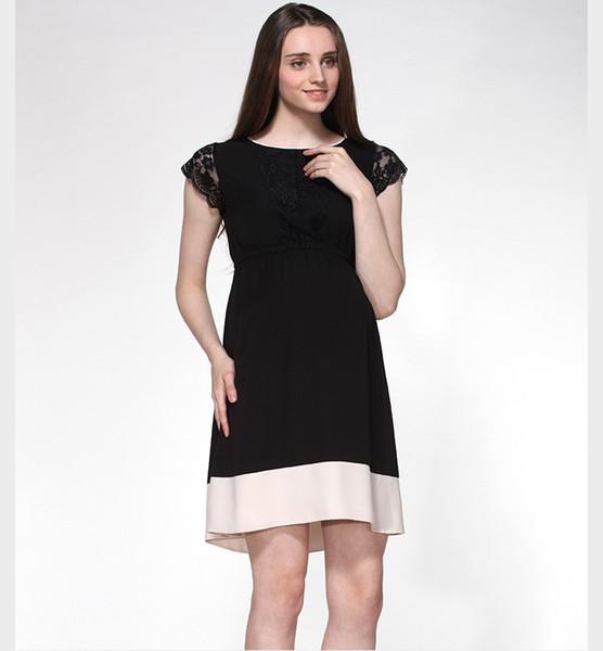 2017 Fashion Brand Maternity Clothing Hollow Lace Maternity Dress ...