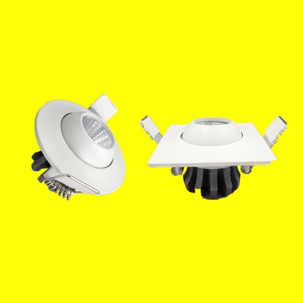 DHL Free Shipping 20pcs mini white down light AC220V 3W 5W Cree COB driverless home downlights dimmable