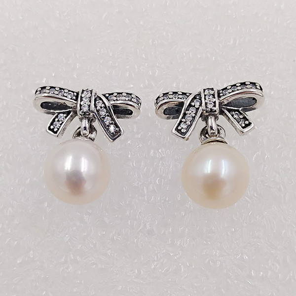 b0f83eb14 Delicate Sentiments With White Pearl Clear Cz Made of 925 Sterling Silver  Fit European Pandora Style