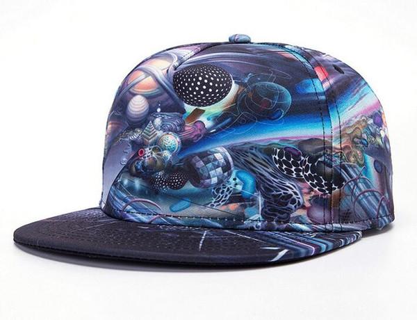 18 stilleri Yeni 3D Renk Baskı Buda Desen Spor Beyzbol Şapkası Hip hop Şapkalar 22 Renkler Yetişkin Boyutu Ayarlanabilir Düz Şapka