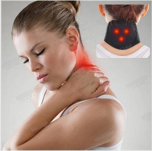 500 Pcs Tourmaline Self Heating Magnetic Therapy Neck Wrap Belt Neck Self Heat Brace Neck Support Strap Slim Equipment YYA134
