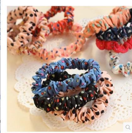 SALE!Polka Dot Elastic Hair Bands Rubber Accessories Hairpins acessorios Headband Fast Bun Gum for Hair