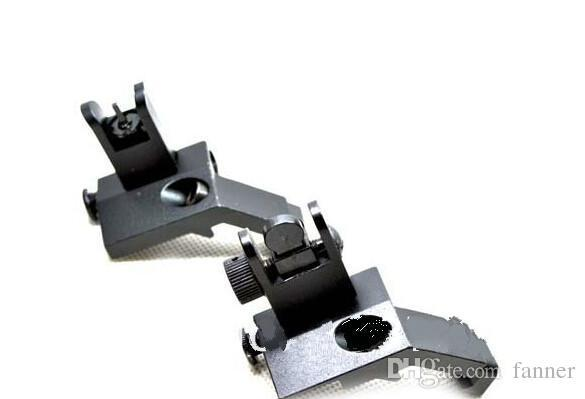 Wholesale-New Design AR15 Front and Rear Flip up 45 Degree Rapid Transition Backup Iron Sight Hot Selling