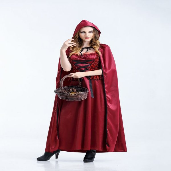 Christmas Halloween Costume Women Sexy Cosplay Little Red Riding Hood Engine Fantasy Game Uniform Make Up Clothing, Free Shipping