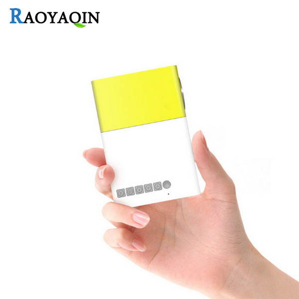 Wholesale- YG300 HD micro projector led handheld mini portable multimedia projector Support HDMI USB AV SD Input For Media Player