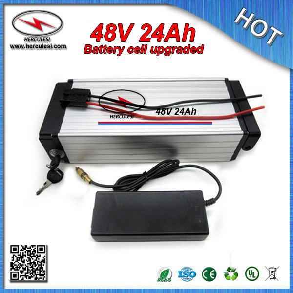 FREE SHIPPING 48V 24Ah Lithium ion Battery 3.7V 3000mAh 18650 cell with 30A BMS 54.6V 2A Charger For Electric Bike Power bank