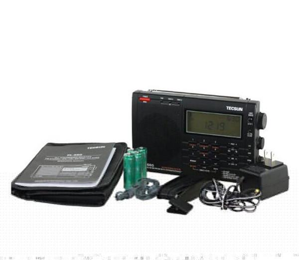 All'ingrosso-100% originale TECSUN PL-660 Radio PLL SSB VHF AIR Radio Ricevitore radio FM / MW / SW / LW Radio multibanda doppia conversione TECSUN PL660