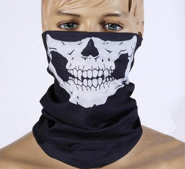 DHL Free shipping 100pcs Skull Design Multi Function Bandana Ski Sport Motorcycle Biker Scarf Face Masks Outdoor Facial Mask Black Color