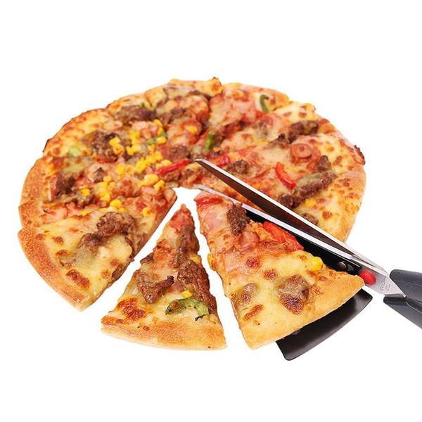11-Zoll-Edelstahl-Pizza-Schere Einfaches Auswechseln der heißen Pizza aus dem Tray Ein Ersatz für Ihren normalen Pizzaschneider DEC272