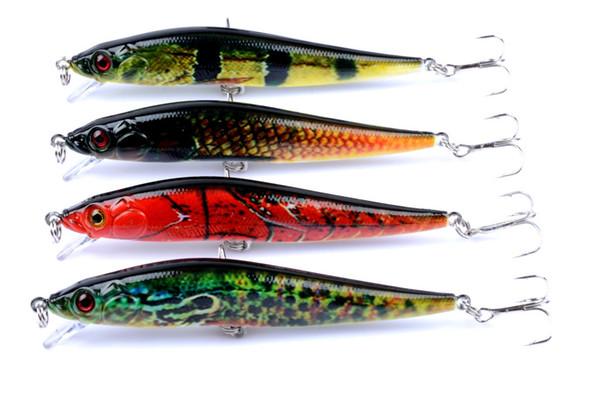 4pcs of Plastic Topwater Fishing Bait 10cm, 10g Artificial Swimbaits Wobbler Hard Fishing Lures Bass Pike Big Game Pesca Tackle Hooks