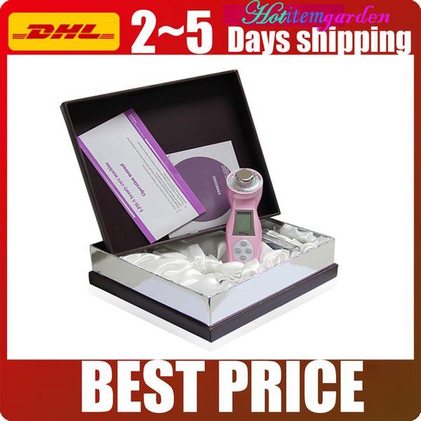 Best Gift 3MHz Ionic-Photon-Ultrasonic Skin Rejuvenation Massager Deep Moisturizing Facial Skin Lifting Beauty Machine 3 Colors Choose