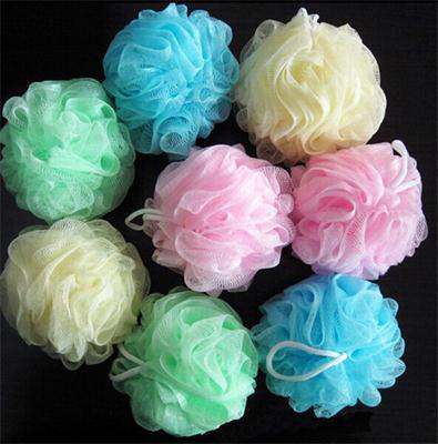 Comercio al por mayor bola de baño bathsite bañeras Cool ball towel scrubber Body cleaning Malla Shower wash Producto de esponja