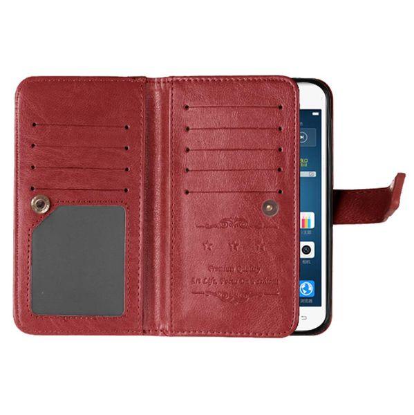 9 Card Slot Money Photo frame Stand Wallet Case for Sony Xperia X X Performance XA XZ X COMPACT Z3 Z4 Z5 E5 M5 1PCS/LOT