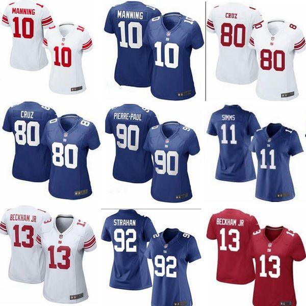 sports shoes ba47a 5f690 2019 Wholesale Hot Sale Women 80 VictorCruz Jersey Cheap 10 ManningOdell 13  BeckhamJR Shirts 11 PhilSimms Football Jerseys Size:S 2XL From ...