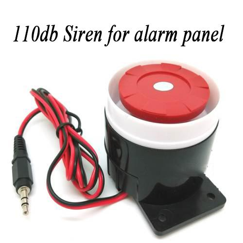 110db loud sound alarm Siren with sticker for home security system Compatible all alarm panel with 3.5mm plug