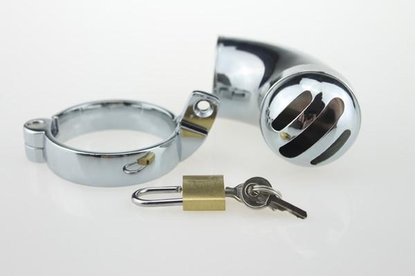 Anelli maschili Gabbia in acciaio inox dispositivo bloccabile Chastity CB Mens 3 taglie 40mm 45mm 50mm Cintura bloccaggio pene bondage giocattolo del sesso per uomo