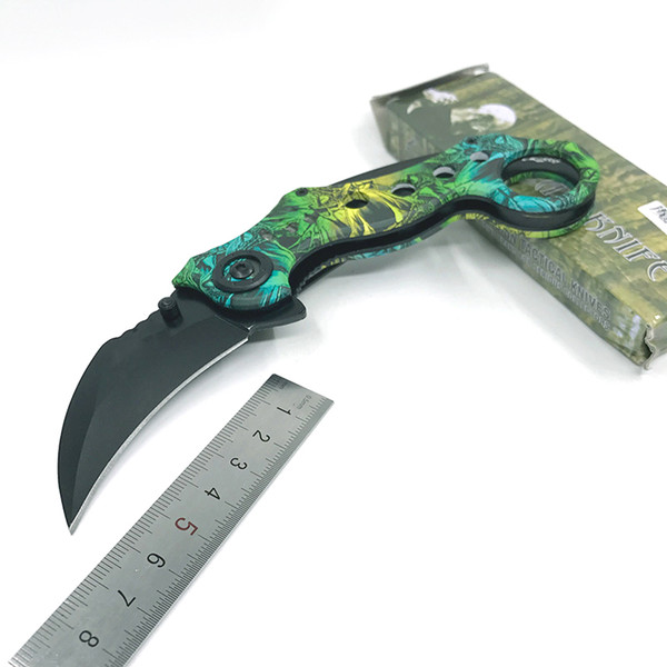 Scorpion Claw Knives Mini Karambit Csgo Knife Hunting Camping Tool Folding Survival Tactical Pocket Knife 440C Steel Outdoor Knife