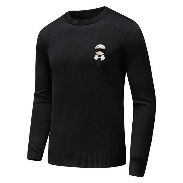 top popular brand designer monster sweater men leather curs knitwear winter warm sweater pullover cardigan slim fit cashmere sweater men D30 2019