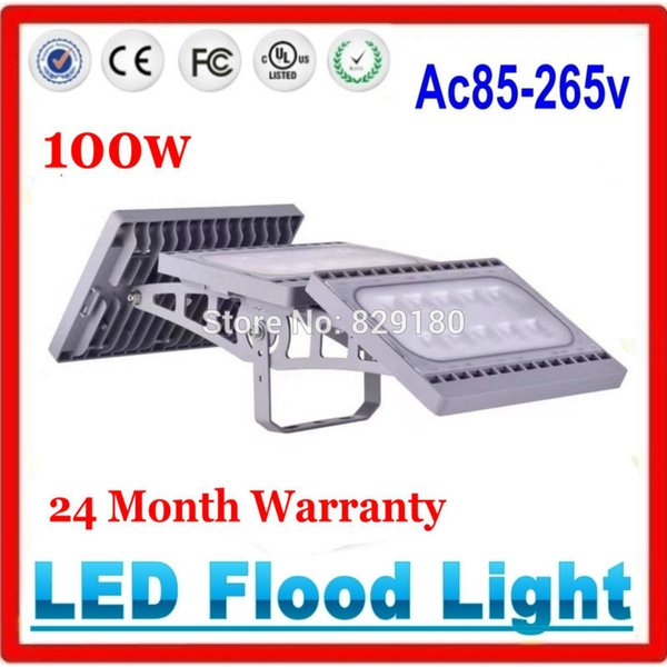 Wholesale- 100W LED Flood Lights Waterproof Security Lamp Outdoor Lamp IP65 Floodlights AC85-265V DC24V Outdoor Light Decor
