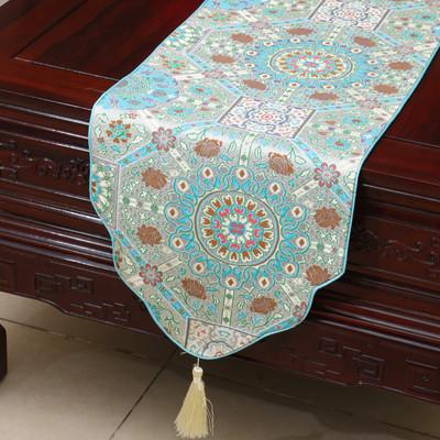 best selling Thicken Jacquard Table Runners Chinese style High-density Silk brocade Luxury Rectangle Table Cloth Dining Table Pads Home Decor 200x33 cm