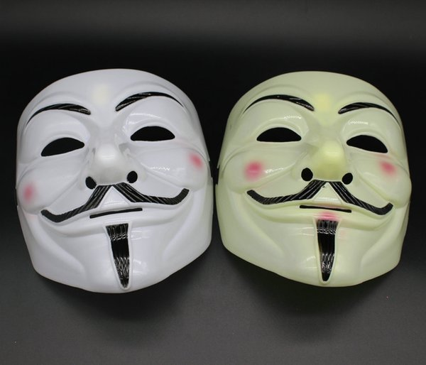Party Masks V for Vendetta Masks Anonymous Guy Fawkes Fancy Dress Adult Costume Accessory Party Cosplay Masks For Halloween Party