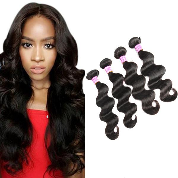 Brazilian Virgin Human Hair Weaves Malaysian Indian Peruvian Wet And Wavy Hair Bundles Bemiss Top Selling Items Natural Color Big Sales Hot