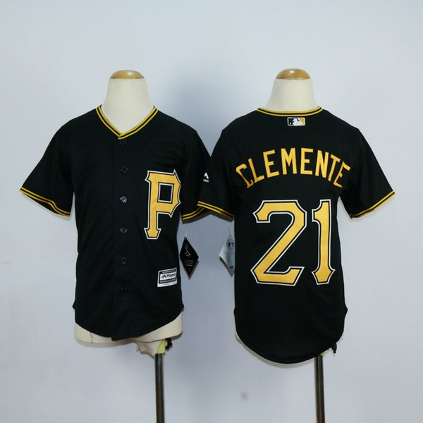 7b1667a85 ... Youth Pittsburgh Pirates 21 Roberto Clemente 22 Andrew McCutchen 27  Jung Ho Kang Baseball Jersey Cool ...
