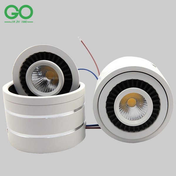 LED Ceiling Downlight COB Chip 3W 5W 7W 10W 12W 15W Dimmable 360 degree Rotatable Surface Mounted Spot Decoration Wall Down Lights