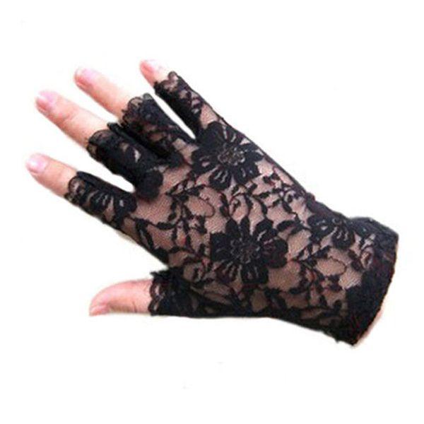 All'ingrosso- 2016 donne vintage Amazing Goth Partito protezione solare Sexy Dressy Lace Guanti anti-uv Mittens Fingerless Style