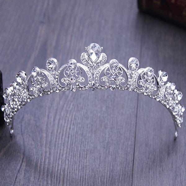 Tiara Sposa Donna Corona Diadema Strass Cristallo Party Prom