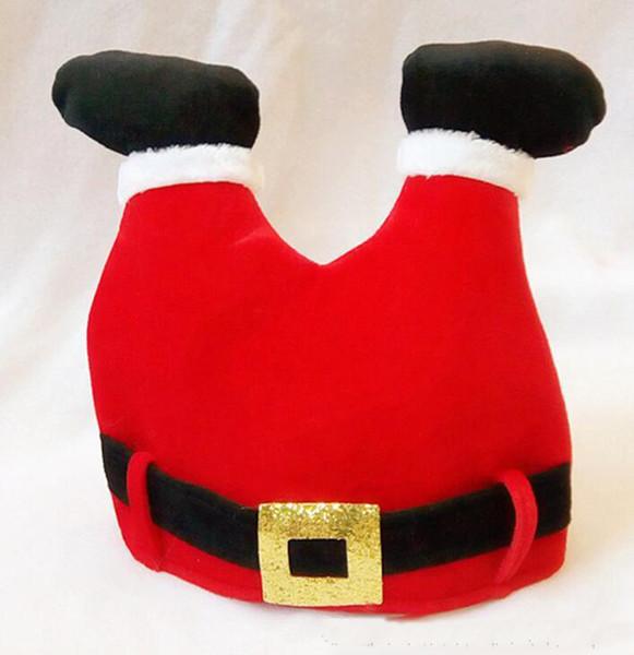 Yeni Santa pantolon-şekilli cap cap pleuche Noel partisi şapka Cosplay şapka festivali parti malzemeleri ücretsiz kargo