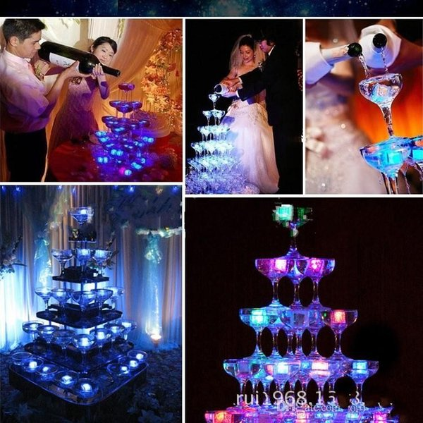 2400PCS High Quality Flash Ice Cube Water-Actived Flash Led Light Put Into Water Drink Flash Automatically for Party Wedding Bars Christmas