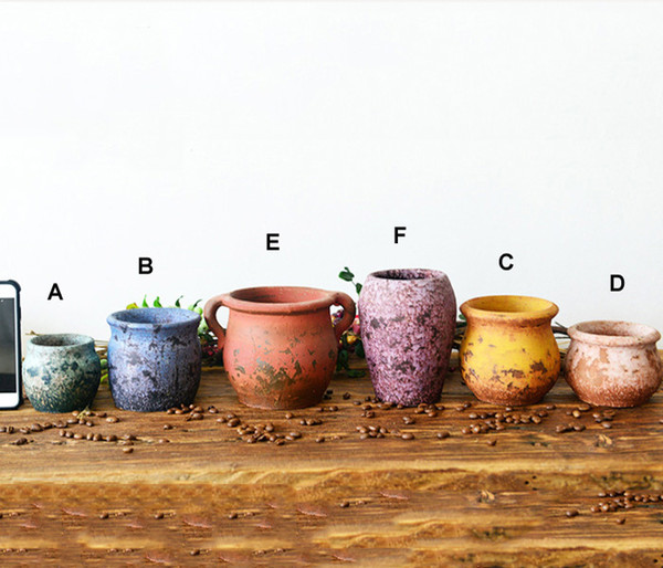 6PCS-PACK Multi Color Chinese RetroStyle Clay Flower Pot for Succulent Plants Flowerpot Terracotta Pot  sc 1 st  DHgate.com & 2019 PACK Multi Color Chinese RetroStyle Clay Flower Pot For ...