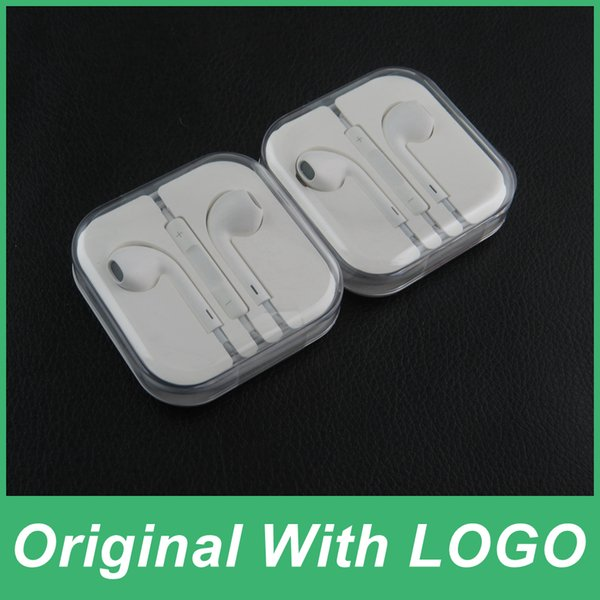 Original Apple EarPods Наушники Наушники с микрофоном и регулятором  громкости Кристальная коробка для iPhone SE 5 d2b5eb1b312c2