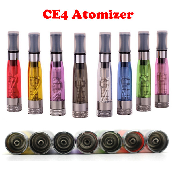 CE4 1.6ml Atomizer ego CE4 Colorful Clearomizer For EGO-T Atomizer E- Cigarette Adapter to ego-t ego-w ego-c twist All 510 Clearomizer DHL