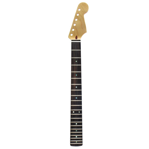 "High Quality 21 Fret Guitar Neck Canadian Maple Rosewood Fingerboard 12"" Matte Satin For FD ST Strat Style Guitar"