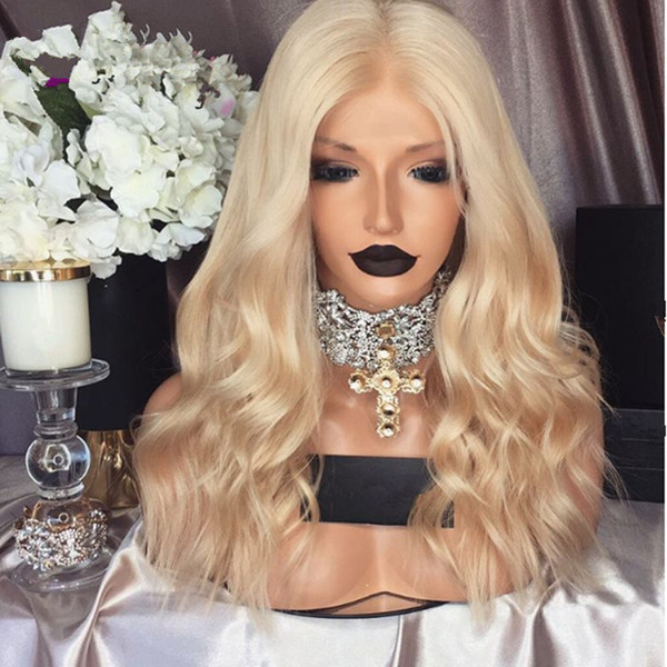 # 613 Straight Blond Wig Is Full Of My Shoes And The Baby Hair Edge About Virgin Big Wave In Full Lace Wig Human Hair Is Human Hair 100%